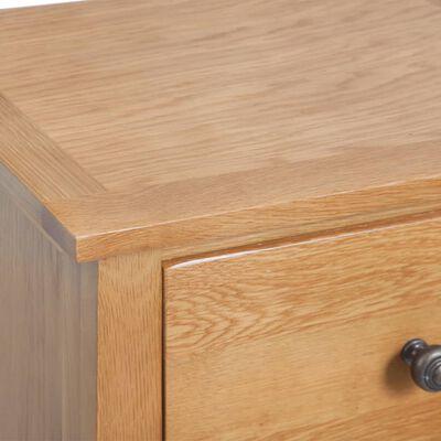 "vidaXL Tallboy Chest of Drawers Solid Oak Wood 17.7""x12.6""x45.3"" Brown"