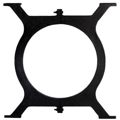 vidaXL Dining Table Legs 2 pcs O-Frame Cast Iron