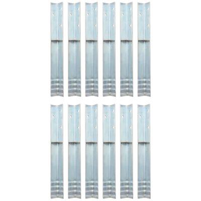 "vidaXL L-shaped Ground Anchors 12 pcs Galvanised Steel 2""x2""x19.7"""