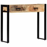 "vidaXL Console Table 35.4""x11.8""x29.5"" Solid Mango Wood"