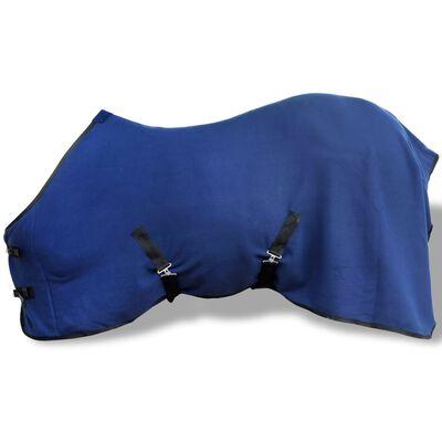 "vidaXL Fleece Rug with Surcingles 57"" Blue"