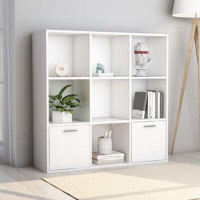 "vidaXL Book Cabinet White 38.5""x11.8""x38.5"" Chipboard"
