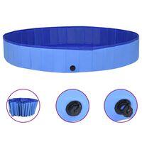 "vidaXL Foldable Dog Swimming Pool Blue 118.1""x15.7"" PVC"