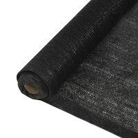 vidaXL Privacy Net HDPE 3.2'x82' Black