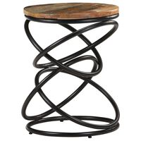 "vidaXL End Table 15.7""x15.7""x20.5"" Solid Reclaimed Wood"