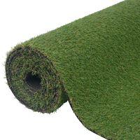 """vidaXL Artificial Grass 3.3'x16.4'/0.8""""-1"""" Green"""
