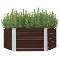 """vidaXL Raised Garden Bed Brown 50.8""""x50.8""""x18.1"""" Galvanized Steel"""