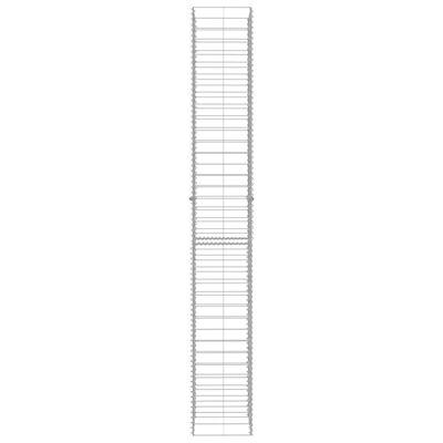 "vidaXL Gabion Baskets 3 pcs Galvanized Steel 9.8""x9.8""x77.6"""