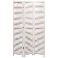"vidaXL 3-Panel Room Divider 41.3""x64.7"" Wood"