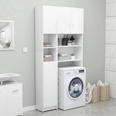 "vidaXL Bathroom Cabinet White 12.6""x10""x74.8"" Chipboard"