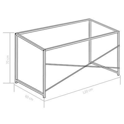 "vidaXL Computer Desk White 47.2""x23.6""x27.6"""
