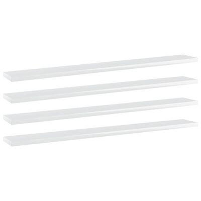 "vidaXL Bookshelf Boards 4 pcs High Gloss White 31.5""x3.9""x0.6"" Chipboard"