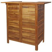 """vidaXL Bar Table 43.3""""x19.7""""x41.3"""" Solid Acacia Wood"""