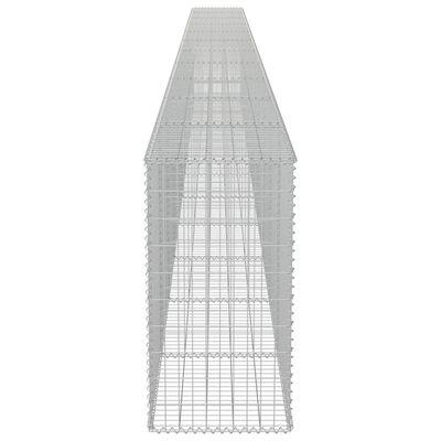 "vidaXL Gabion Wall with Covers Galvanized Steel 354""x19.7""x39.4"""