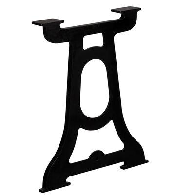vidaXL Dining Table Legs 2 pcs Y-Frame Cast Iron