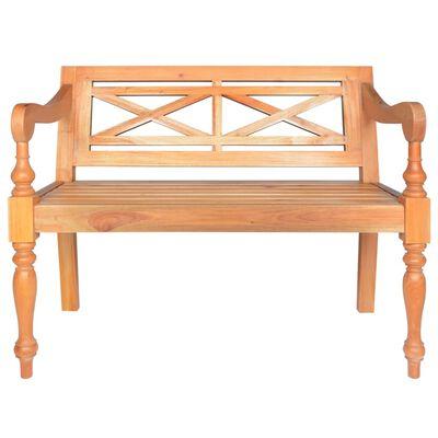 "vidaXL Batavia Bench 38.6"" Solid Mahogany Wood Light Brown"