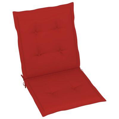 "vidaXL Garden Chair Cushions 6 pcs Red 39.4""x19.7""x1.6"""