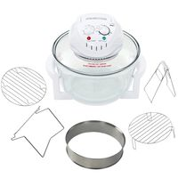 vidaXL Halogen Convection Oven with Extension Ring 1400 W 17.9 Quart
