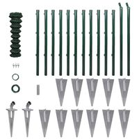 """vidaXL Chain Link Fence with Posts Spike Steel 4'1""""x82'"""