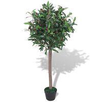 "vidaXL Artificial Bay Tree Plant with Pot 47.2"" Green"
