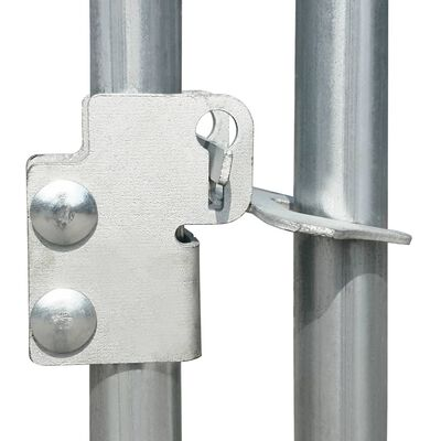vidaXL Chicken Coop 29.5'x3.3'x4.9' Galvanized Steel