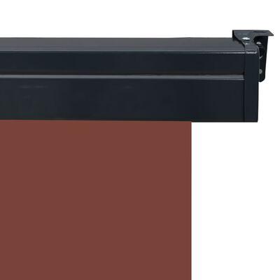 "vidaXL Balcony Side Awning 66.9""x98.4"" Brown"
