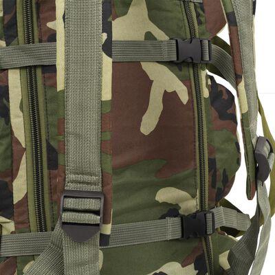 vidaXL 3-in-1 Army-Style Duffel Bag 31.7 gal Camouflage