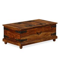 "vidaXL Storage Chest Solid Sheesham Wood 35.4""x19.7""x13.8"""