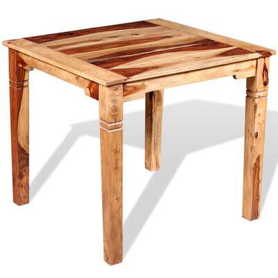 "vidaXL Dining Table Solid Sheesham Wood 32.3""x31.5""x30"""