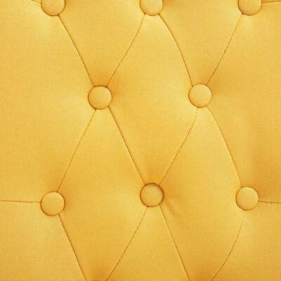 vidaXL Dining Chairs 2 pcs Yellow Fabric