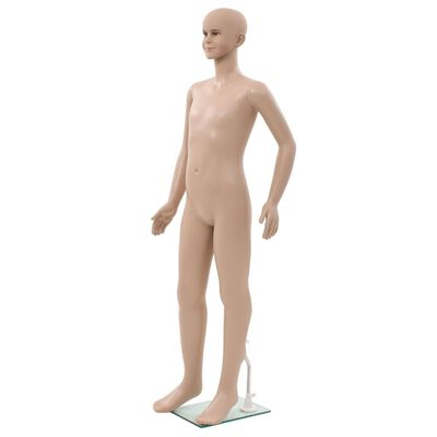 "vidaXL Full Body Child Mannequin with Glass Base Beige 55.1"""