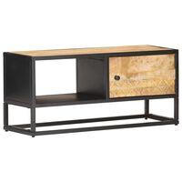 """vidaXL TV Cabinet with Carved Door 35.4""""x11.8""""x15.7"""" Rough Mango Wood"""