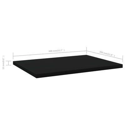 """vidaXL Bookshelf Boards 4 pcs Black 15.7""""x11.8""""x0.6"""" Chipboard"""