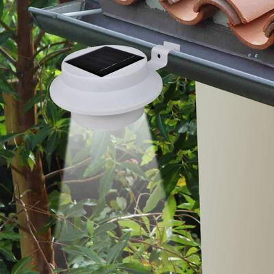vidaXL Outdoor Solar Lamp Set 6 pcs Fence Light Gutter Light White