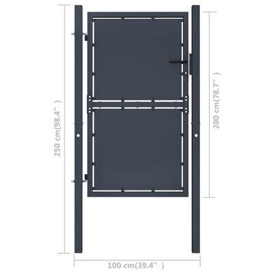 """vidaXL Garden Gate Steel 39.4""""x78.7"""" Anthracite"""
