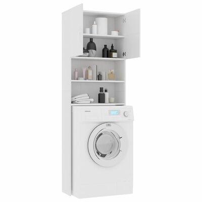 "vidaXL Washing Machine Cabinet White 25.2""x10""x74.8"" Chipboard"