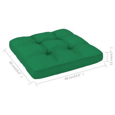 "vidaXL Pallet Sofa Cushion Green 23.6""x23.6""x4.7"""