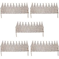 vidaXL Willow Trellis Fence 5 pcs