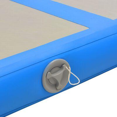 "vidaXL Inflatable Gymnastics Mat with Pump 196.8""x39.3""x3.9"" PVC Blue"