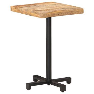 "vidaXL Bistro Table Square 19.7""x19.7""x29.5"" Rough Mango Wood"