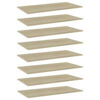 """vidaXL Bookshelf Boards 8 pcs Sonoma Oak 31.5""""x7.9""""x0.6"""" Chipboard"""