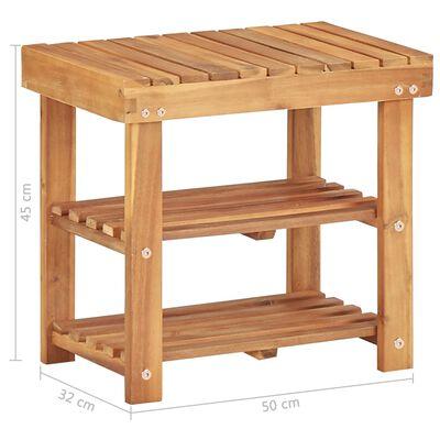 """vidaXL Shoe Rack 19.6""""x12.5""""x17.7"""" Solid Acacia Wood"""
