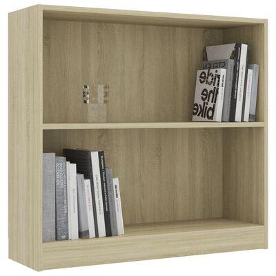 """vidaXL Bookshelf Sonoma Oak 31.5""""x9.4""""x29.5"""" Chipboard"""