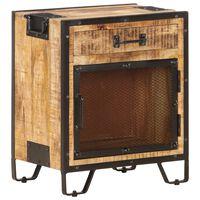 "vidaXL Bedside Cabinet 16.9""x11.8""x20"" Solid Rough Mango Wood"