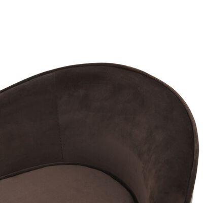 "vidaXL Dog Sofa Brown 27.2""x19.3""x15.7"" Plush and Faux Leather"