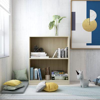 """vidaXL Bookshelf Sonoma Oak 23.6""""x9.4""""x29.3"""" Chipboard"""