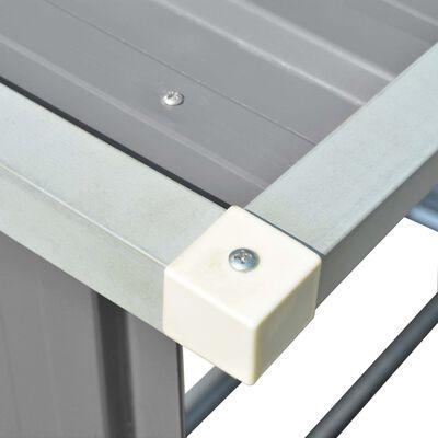 "vidaXL Garden Log Storage Shed Galvanized Steel 64.2""x32.7""x60.6"" Gray"