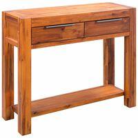 "vidaXL Console Table Solid Acacia Wood 33.8""x11.8""x29.5"""