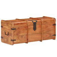 "vidaXL Storage Chest 35.4""x15.7""x15.7"" Solid Acacia Wood"