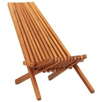 vidaXL Folding Outdoor Lounge Chair Solid Acacia Wood